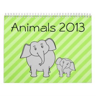Los animales hacen calendarios 2013. Animales