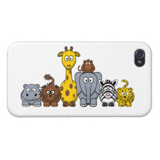 LOS ANIMALES LINDOS DE LA SELVA AÑADEN SU TEXTO iPhone 4 CARCASAS