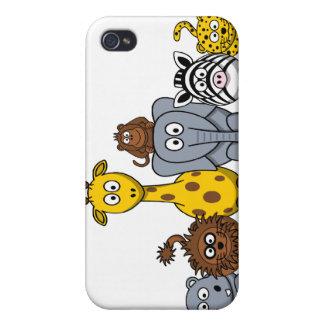 LOS ANIMALES LINDOS DE LA SELVA AÑADEN SU TEXTO iPhone 4 CARCASA