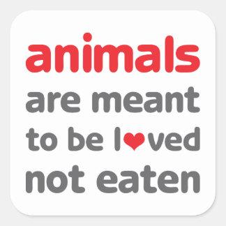 Los animales se significan para ser amados para n colcomania cuadrada