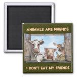Los animales son amigos imanes