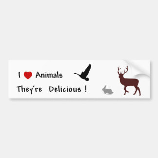 Los animales son deliciosos pegatina para auto