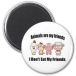 Los animales son mis amigos iman para frigorífico