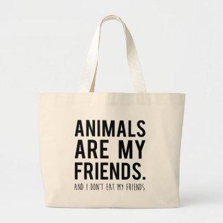 los animales son mis amigos. y yo no como a mis bolsa tela grande