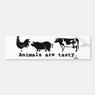 Los animales son sabrosos pegatina para auto