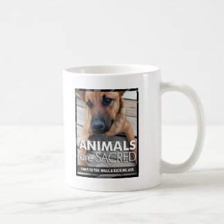 Los animales son sagrados taza de café