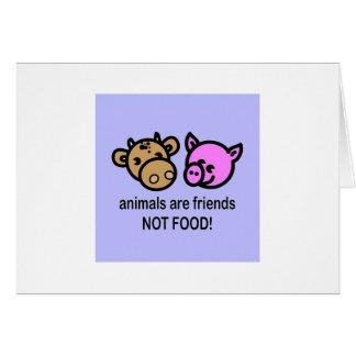 Los animales son tarjeta de felicitación de los am