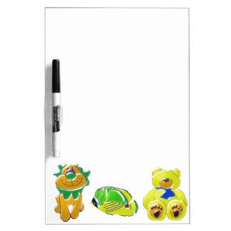 Los animales tridimensionales del dibujo animado pizarras