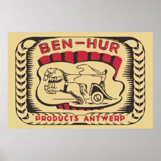 Los años 20 de Ben-Hur del vintage que hacen publi Póster