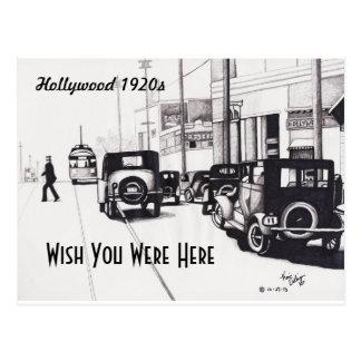 """Los """"años 20 de Hollywood"""" desean que usted estuvi Tarjeta Postal"""