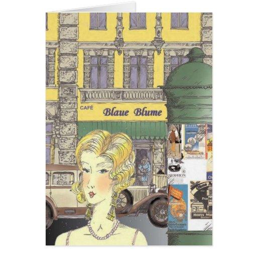 Los años 20 de la escena de la calle de Berlín Felicitación