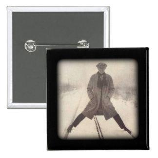 Los años 20 de la foto c del ferrocarril del pin cuadrada 5 cm
