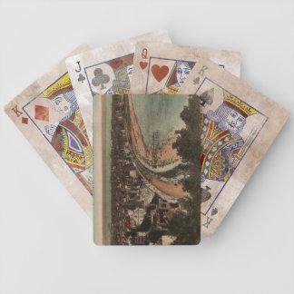 Los años 20 de la postal de Francia del panorama Baraja Cartas De Poker