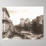 Los años 20 Foto Antigua del EL Prado de La Habana Póster
