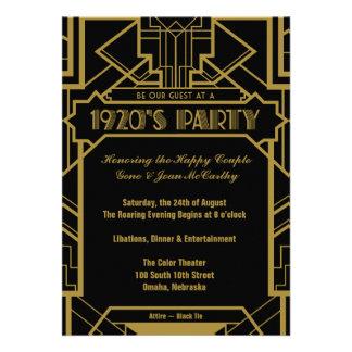 los años 20 Gatsby invitan Invitacion Personalizada