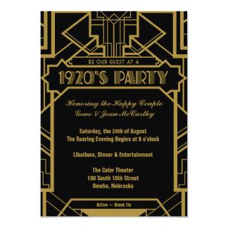 """los años 20 Gatsby invitan Invitación 5"""" X 7"""""""