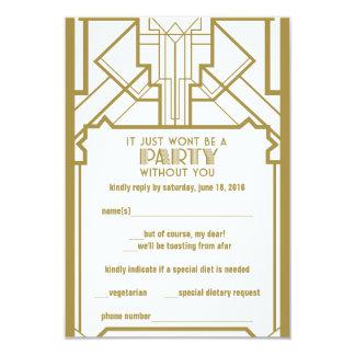 los años 20 Gatsby RSVP Invitaciones Personales