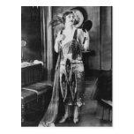 Los años 20 hermosos del vestido de la aleta de la tarjetas postales