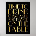 los años 20 miden el tiempo para beber el oro del póster