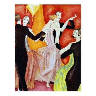 los años 20 que bailan pares postales