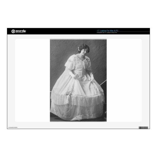 los años 20 que casan la foto de la novia calcomanías para portátiles