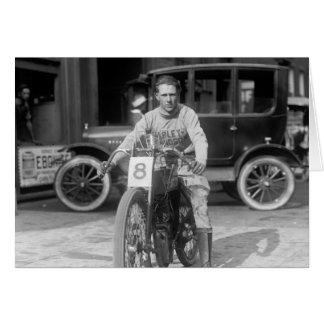 los años 20 que compiten con la motocicleta tarjeta de felicitación
