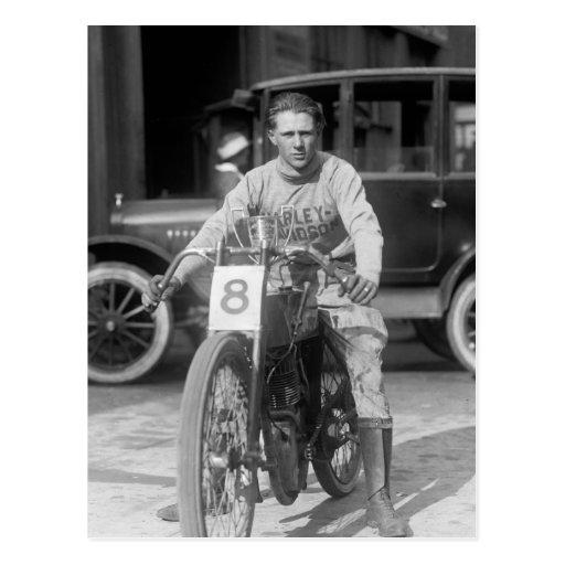 los años 20 que compiten con la motocicleta postales