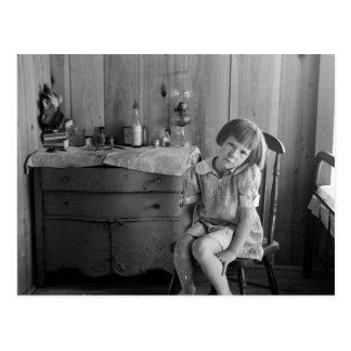 Los años 30 del chica de la Gran Depresión Postal