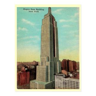 Los años 30 del Empire State Building Tarjeta Postal