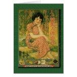 Los años 30 del poster de la publicidad del polvo  tarjeta