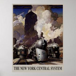 Los años 30 del vintage - sistema central de Nueva Póster