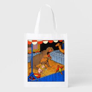los años 30 hippopotamus y amigos gritadores bolsas reutilizables