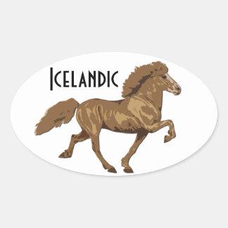 los años 30 islandeses pegatina de ovaladas