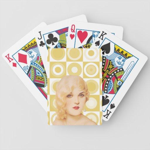 Los años 30 retros modelos barajas de cartas