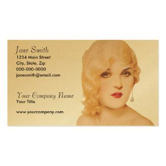 Los años 30 retros modelos tarjetas de visita