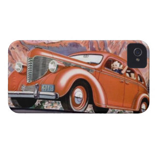 los años 30 rubios en una caja roja del iPhone 4 d iPhone 4 Carcasa