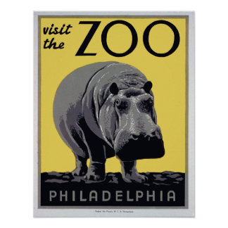 los años 30 visitan poster del vintage de WPA del