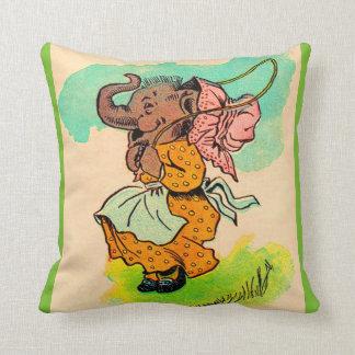 los años 30 vistieron el elefante que jugaba la cojín