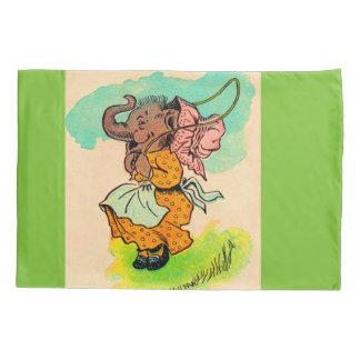 los años 30 vistieron el elefante que jugaba la funda de cojín