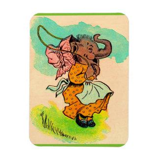 los años 30 vistieron el elefante que jugaba la iman flexible