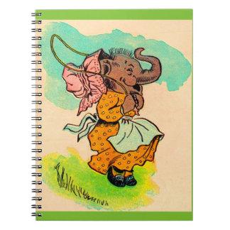 los años 30 vistieron el elefante que jugaba la libro de apuntes con espiral