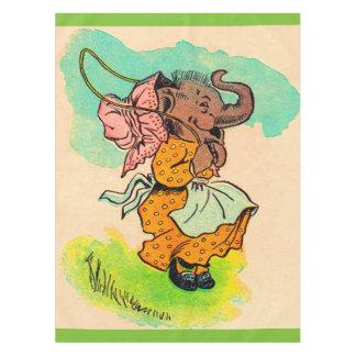 los años 30 vistieron el elefante que jugaba la mantel