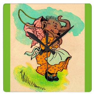 los años 30 vistieron el elefante que jugaba la reloj cuadrado