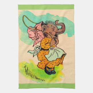 los años 30 vistieron el elefante que jugaba la toalla de cocina