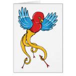 Los años 40 del vintage del ~ del pájaro 3 tatúan  tarjetas