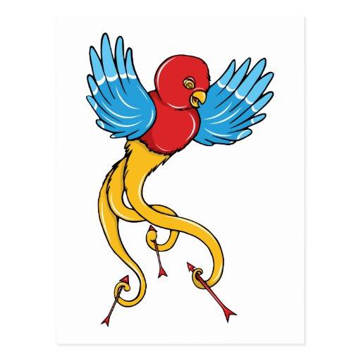 Los años 40 del vintage del ~ del pájaro 3 tatúan  tarjeta postal