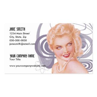 Los años 40 retros modelos tarjetas de visita