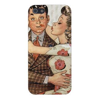 Los años 40 retros que besan pares iPhone 5 carcasas