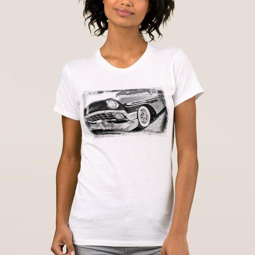 Los años 50 clásicos blancos y negros Chevy Top
