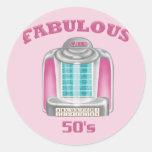 Los años 50 fabulosos etiqueta redonda